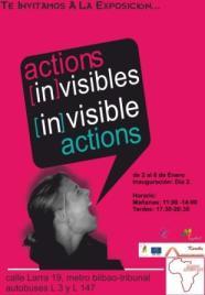 Cartel exposición Acciones In-visibles